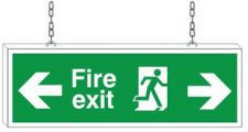 DOUBLE-SIDED EXIT SIGN